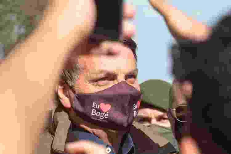 Jair Bolsonaro causa aglomeração na chegada a Bagé (RS) - Tiago Rolim de Moura/Estadão Conteúdo - Tiago Rolim de Moura/Estadão Conteúdo
