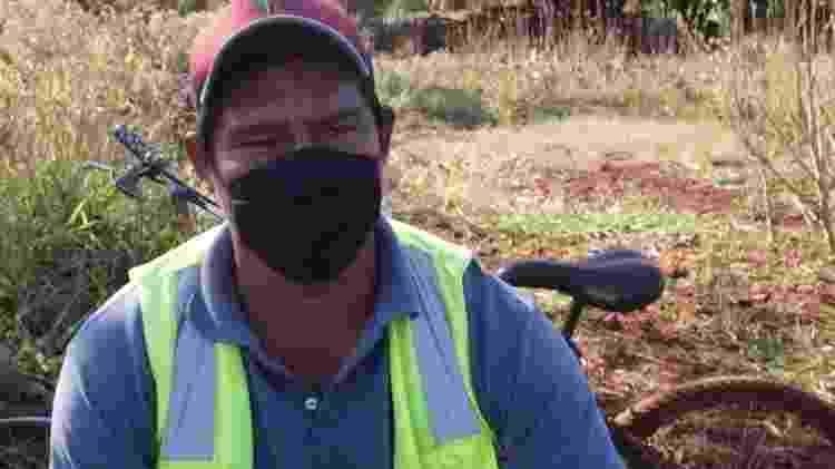 Mauri da Silva Almeida é um dos indígenas que se revezam na barreira sanitária Sucuriy: 'Passamos um mês debaixo de chuva'  - Foto: Doriano Arce - Foto: Doriano Arce