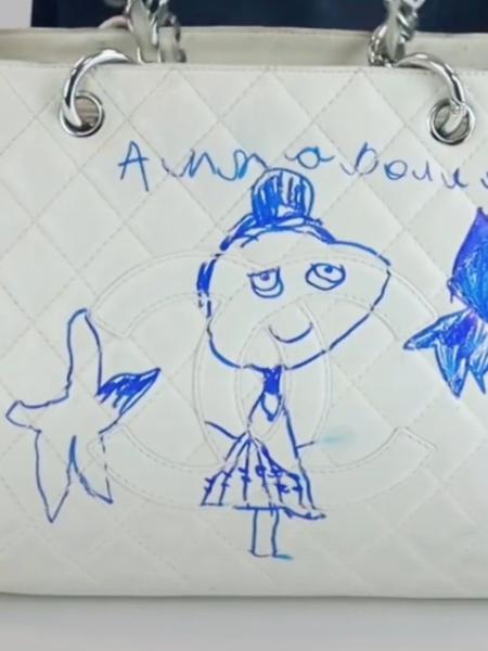 Menina de 5 anos fez desenho de caneta em Chanel da mãe - Reprodução/TikTok