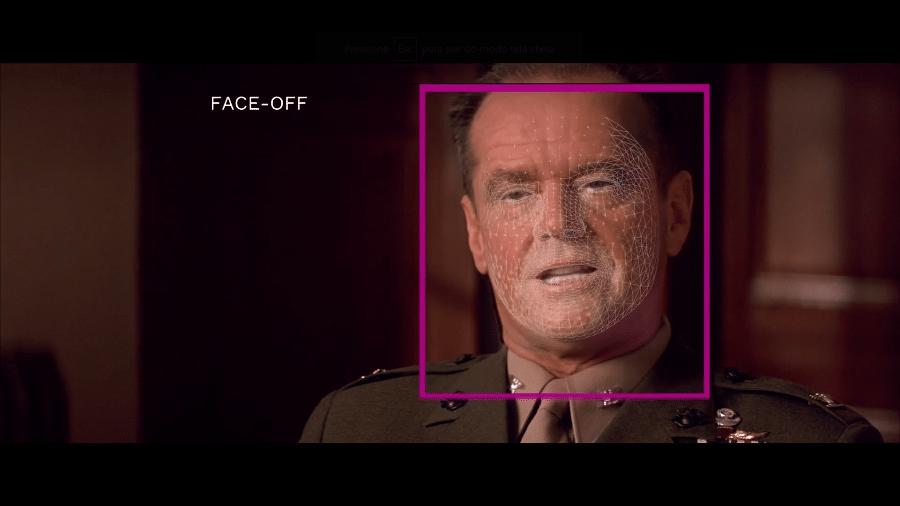 """Inteligência artificial sincroniza boca do ator Jack Nicholson no filme """"Guestão de Honra"""" com dublagens em outros idiomas - Reprodução/Flawless"""