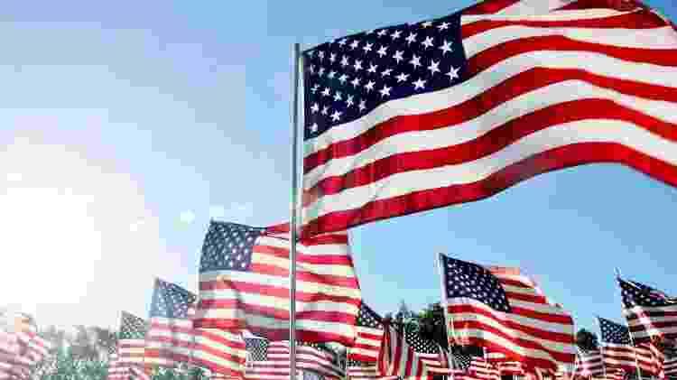Bandeira dos EUA - Lynne Gilbert/Getty Images - Lynne Gilbert/Getty Images