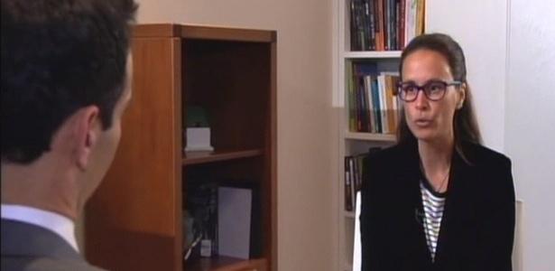 """A advogada Beatriz Catta Preta em entrevista ao """"Jornal Nacional"""" sobre as ameaças que teria recebido de integrantes da CPI da Petrobras - Reprodução"""