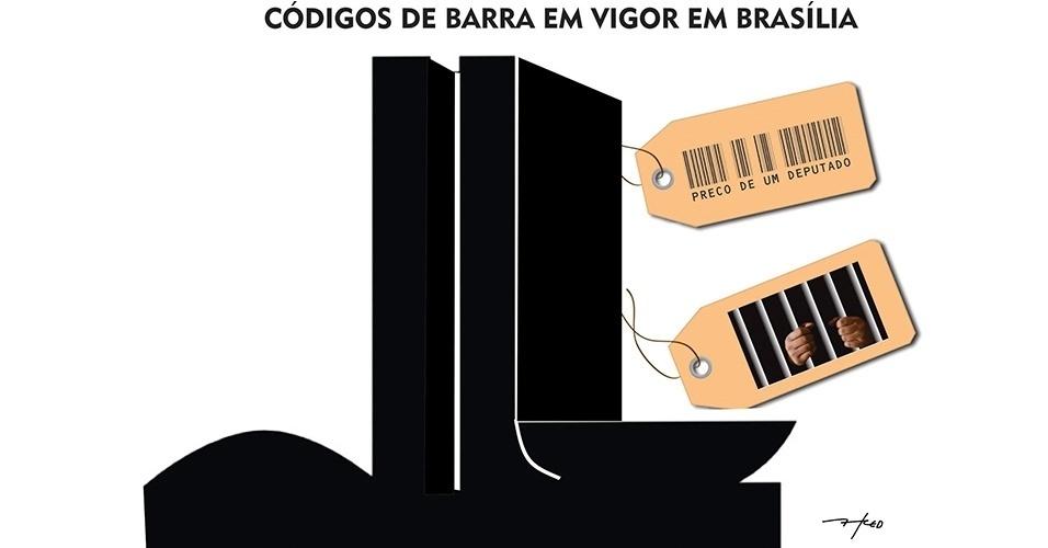 8.abr.2016 - Na charge do Fred, preços em Brasília mudam ao ritmo da crise política