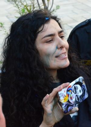 No final de julho, Letícia Sabatella foi hostilizada por manifestantes a favor da saída de Rousseff em Curitiba - Gel Lima/Código19/Estadão Conteúdo