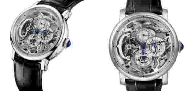 Rotonde de Cartier Grande Complication Skeleton, relógio de cristal  transparente que custa mais de US  600 mil Imagem  Divulgação 5696991e55