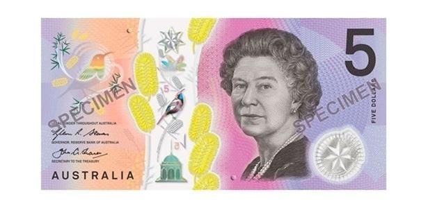 Oscar da Moeda: nota de 5 dólares australianos