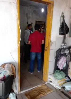 Integrantes do Ministério Público inspecionam cela onde menino de 13 anos foi encontrado