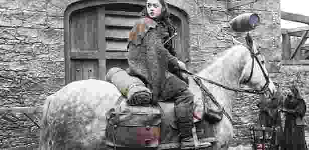 """Maisie Williams como a jovem Arya Stark em """"Game of Thrones"""" - Divulgação - Divulgação"""