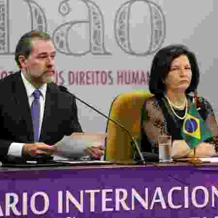 5.dez.2018 - O presidente do STF, Dias Toffoli, e a procuradora-geral da República, Raquel Dodge - G. Dettmar/Agência CNJ/Divulgação