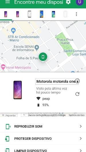 como achar celular perdido android