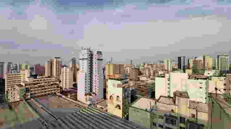 Centro de São Paulo no modo grande angular do Galaxy A80 - Gabriel Francisco Ribeiro/UOL