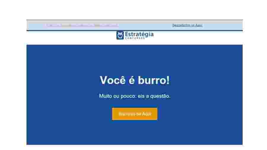 """Empresa é notificada após campanha com mensagem: """"Você é burro!"""" - Divulgação"""