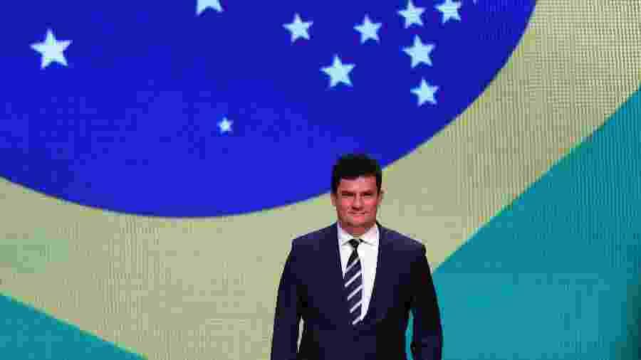 14.oct.2019 - O ministro da Justiça e Segurança Pública, Sergio Moro, participa de encontro na sede da Federação das Indústrias do Estado de São Paulo (Fiesp), na capital paulista, nesta segunda-feira (14) - MARCELO CHELLO/CJPRESS/ESTADÃO CONTEÚDO