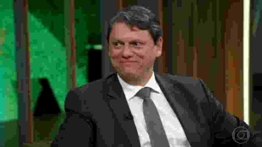 O ministro Tarcísio Gomes de Freitas - Reprodução/TV Globo