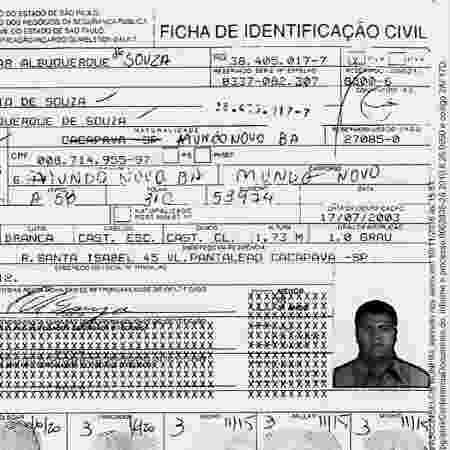 Documento falso usado por Alejandro, irmão de Marcola - Reprodução