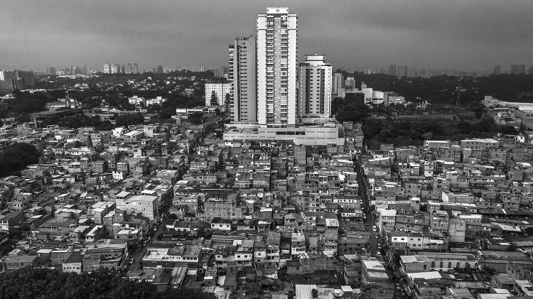 Favela do Jardim Colombo, no bairro do Morumbi, em São Paulo - Lalo de Almeida - 30.mai.2019/Folhapress