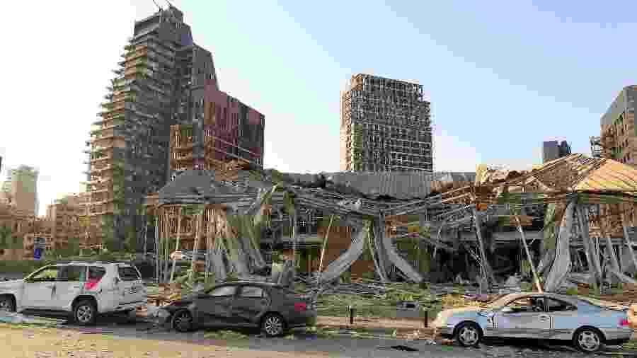 Explosão devastou o Porto de Beirute - AZIZ TAHER/REUTERS