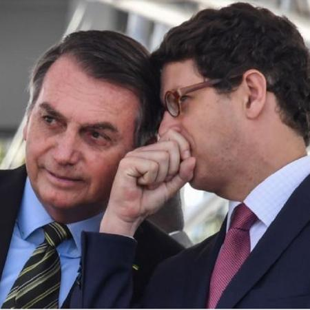 Bolsonaro e Ricardo Salles - Nelson Almeida/Getty Images