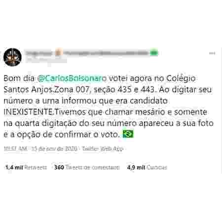 Postagem falsa sobre Carlos Bolsonaro - Reprodução - Reprodução
