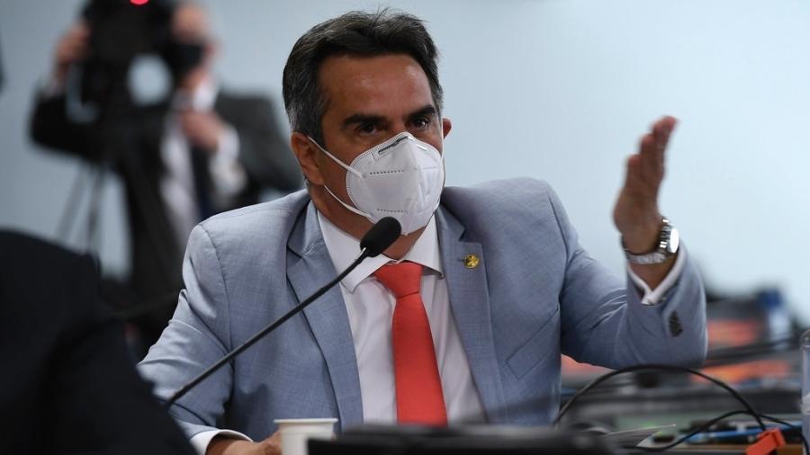 27.abr.2021 - O senador Ciro Nogueira (PP-PI) durante primeira reunião da CPI da Covid - Edilson Rodrigues/Agência Senado