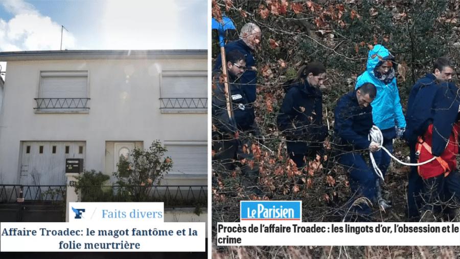 Brigas familiares, ambição desenfreada, matança. O caso Troadec é destaque na imprensa francesa - Fotomontagem RFI/Adriana de Freitas