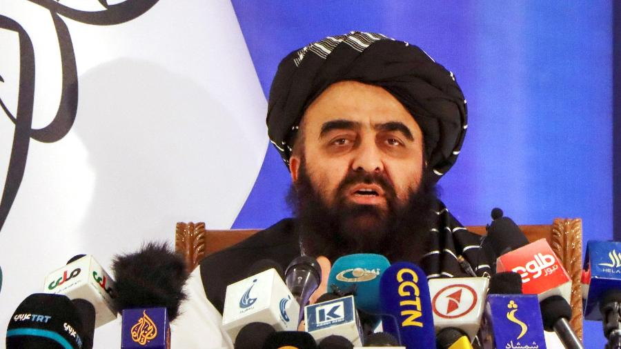 14.set.2021 - O Ministro das Relações Exteriores do Talibã, Amir Khan Muttaqi - Stringer/Reuters