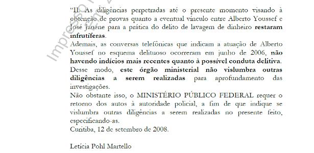 Em 2008, MPF avisou que investigações eram infrutíferas e não pediu mais diligências - Reprodução/UOL