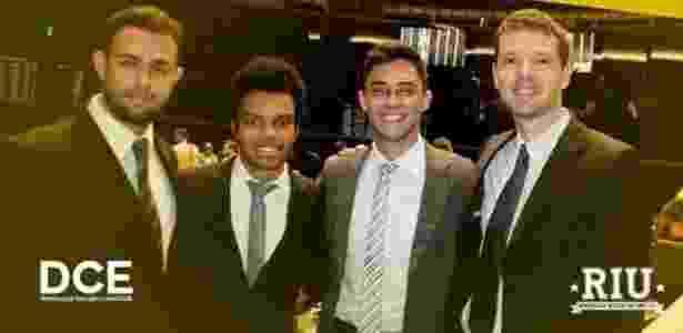 MBL e os partidos: da esquerda para a direita, Bráulio Moraes, da Juventude do DEM, Fernando Holiday, do MBL, Victor Vilela Pupupim, da Juventude do PSDB, e Alexandre Neves, da Juventude do Democratas - Arquivo pessoal/Braulio Moraes