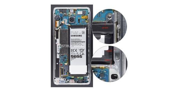 Empresa analisou Galaxy Note 7 por dentro e encontrou espaço apertado demais para a bateria