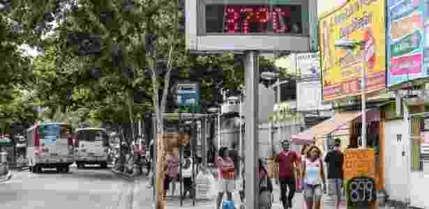 Bangu, na zona oeste carioca, é conhecido como o bairro mais quente do Rio de Janeiro - Marco Antônio Teixeira/UOL