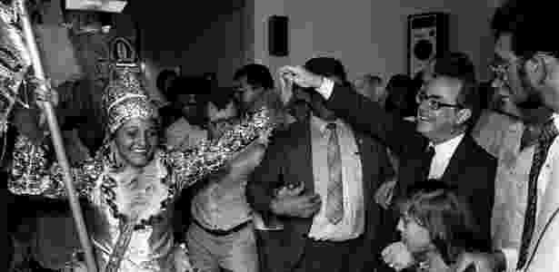 Maluf durante a campanha presidencial de 1984 - Jorge Araújo/Folhapress