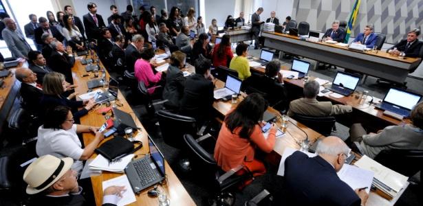 Reunião da CCJ na manhã desta quarta, em Brasília