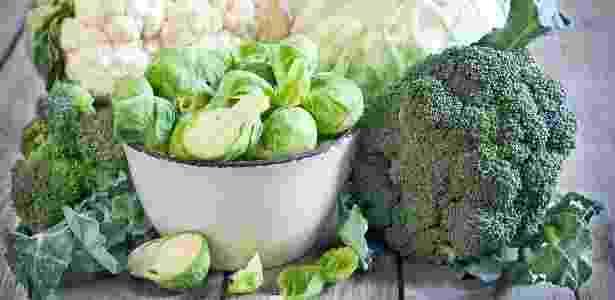 Couve de bruxelas, brócolis, couve-flor e repolho são bons alimentos para diabéticos - Getty Images/iStockphoto
