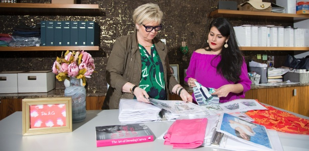 Maria Aikonen, esquerda, e Nadia Boujarwah, do site de vendas Dia & Co, em Nova York