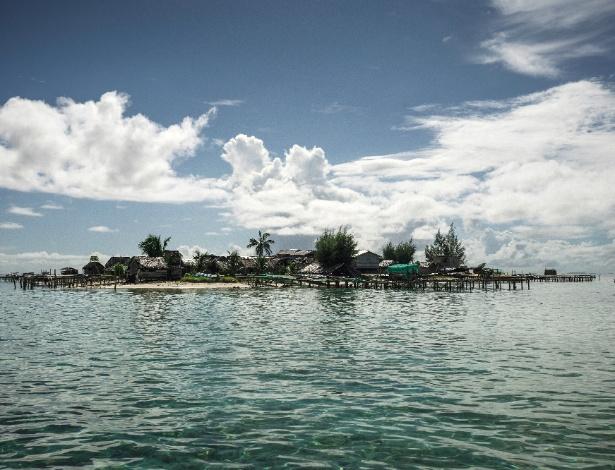 Vista geral da ilha Beniamina, nas Ilhas Salomão