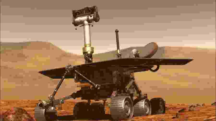 Conhecido pelos íntimos como Oppy, o robô chegou a Marte em 2004 - AFP