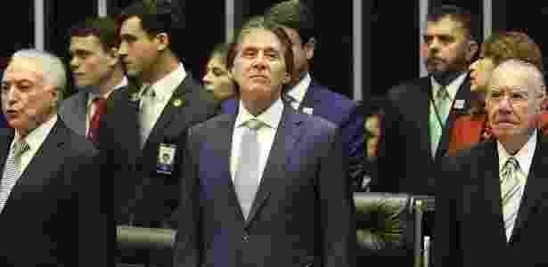 6.nov.2018 - O presidente do Congresso Nacional, Eunício Oliveira (MDB-CE) - José Cruz/Agência Brasil