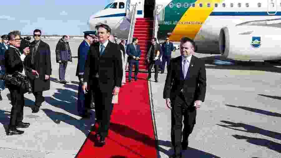 Jair Bolsonaro desembarca em Washington para visita a Donald Trump - Presidência da República