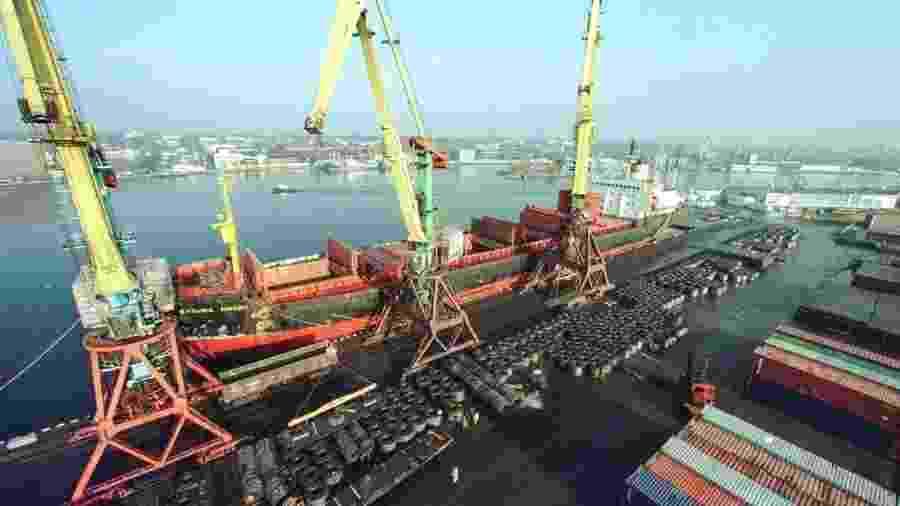 Porto de Kaliningrado, cidade russa - Divulgação