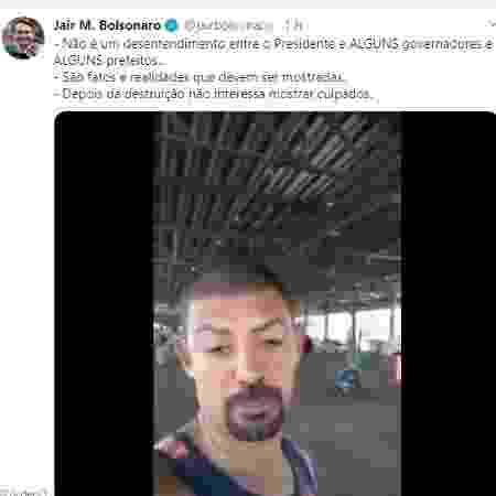 Post apagado por Bolsonaro continha informações falsas sobre a Ceasa de Belo Horizonte - Reprodução