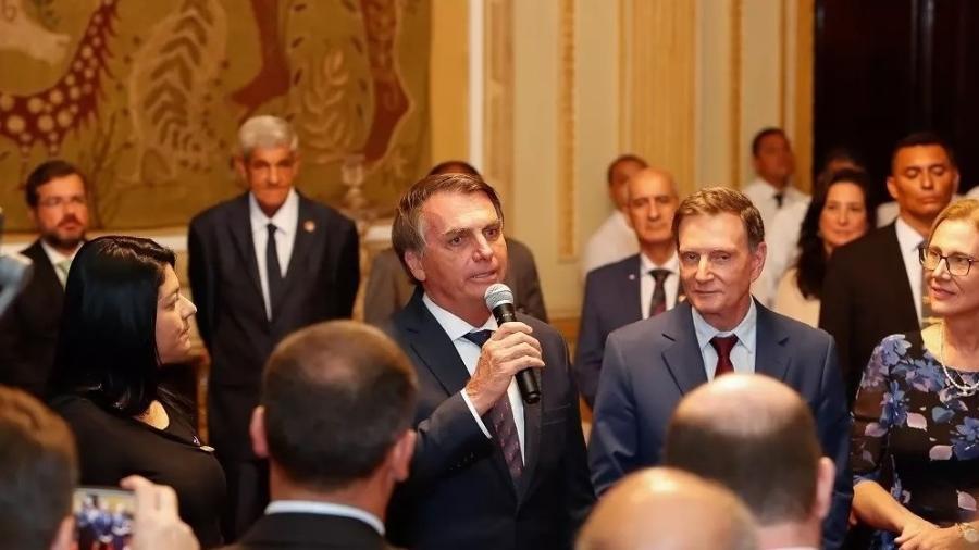 Jair Bolsonaro e Marcelo Crivella  - Crédito: Alan Santos/Presidência da República