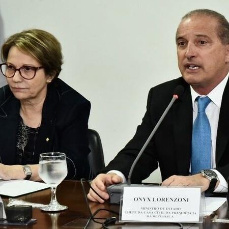 Tereza Cristina, da Agricultura, e Onyx Lorenzoni da Cidadania  - Casa Civil / Rafael Carvalho