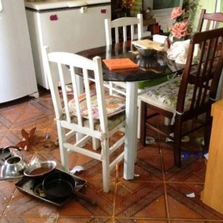 Mãe denunciou o filho após ter a casa destruída no MS - Reprodução