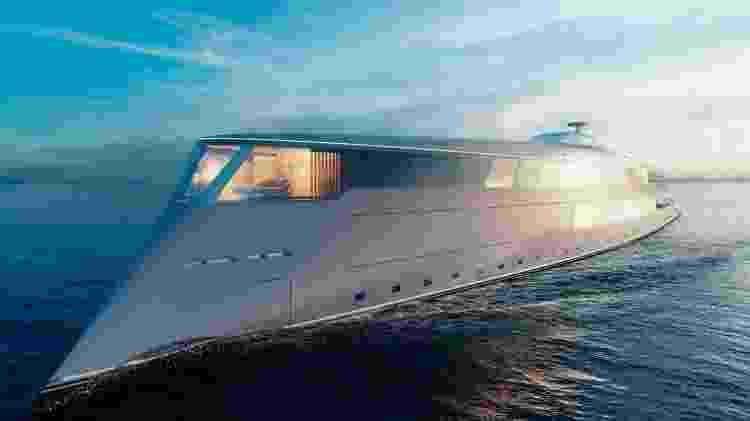 Iate ecológico encomendado por Gates - Sinot Yacht Architecture & Design/Divulgação - Sinot Yacht Architecture & Design/Divulgação
