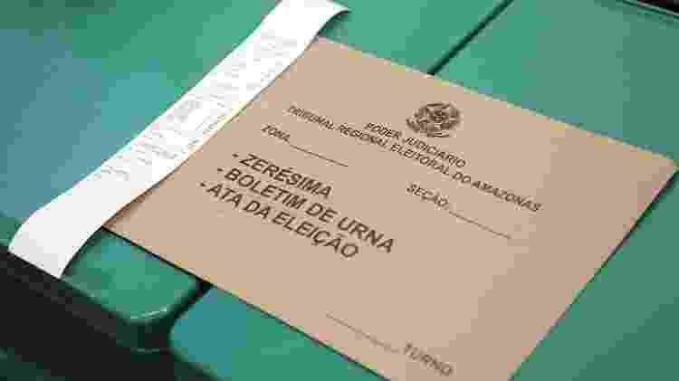 Mesários fazem a zerézima da urna eletrônica na UFAM para votação nas eleições suplementares do Amazonas, em 2017 - Roberto Jayme/Ascom/TSE - Roberto Jayme/Ascom/TSE