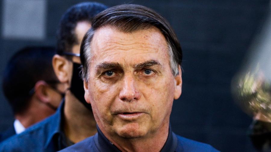 Jair Bolsonaro deixa Hospital Vila Nova Star, em São Paulo, onde estava internado desde quarta-feira (14) - Aloisio Maurício/Fotoarena/Estadão Conteúdo