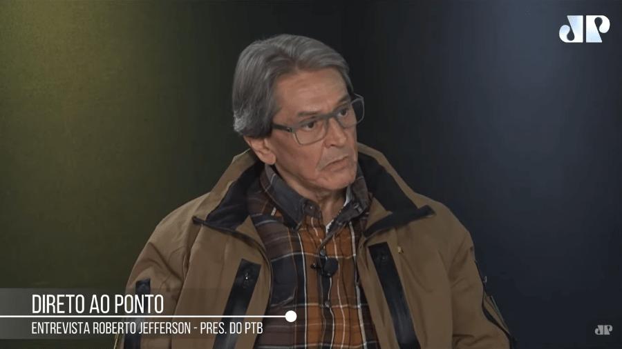 Roberto Jefferson, em entrevista à rádio Jovem Pan, defendeu voto impresso e acusou TSE de fraudes eleitorais - Reprodução/YouTube