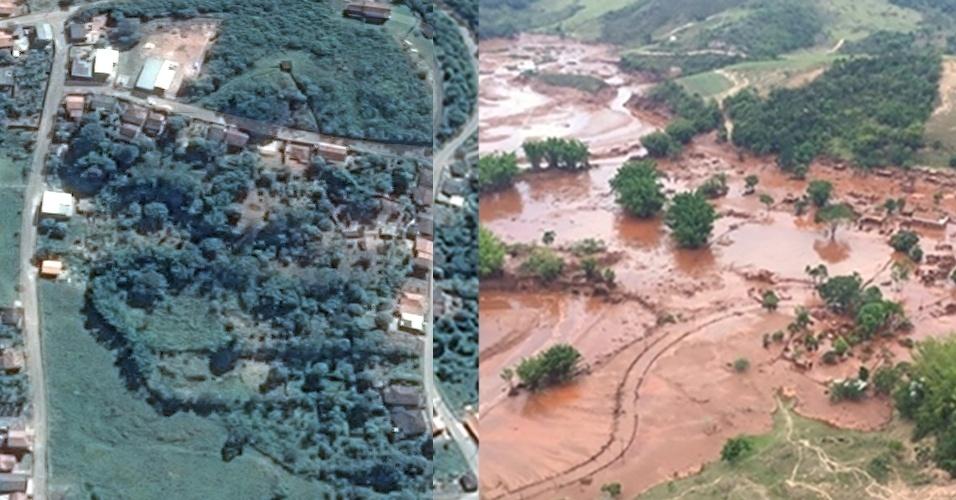 Resultado de imagem para Rompimento da barragem em Mariana - MG