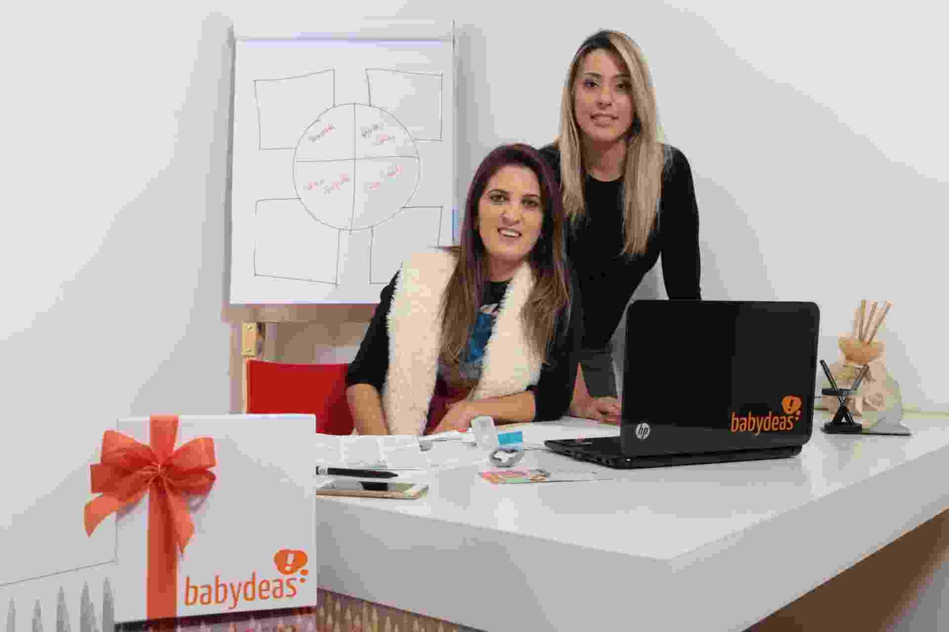 A administradora de empresas Jackeline Niehues e a biotecnóloga Elisa Machado são fundadoras da Babydeas, e-commerce de artigos de bebês - Divulgação