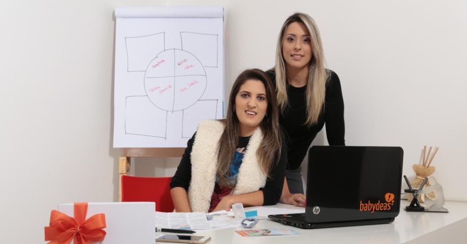 A administradora de empresas Jackeline Niehues e a biotecnóloga Elisa Machado são fundadoras da Babydeas, e-commerce de artigos de bebês